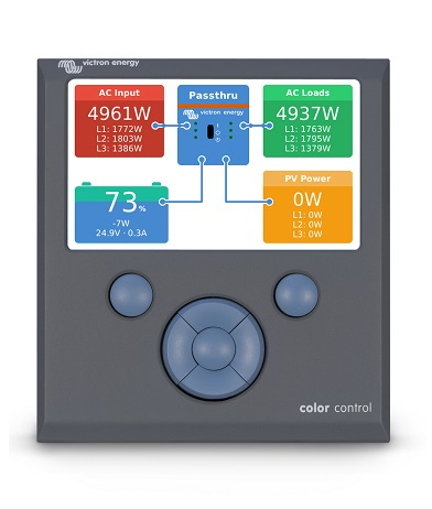 Victron Energy Color Control Screen