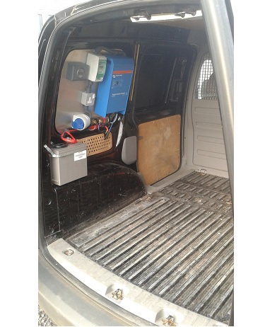 Caddy Van Inverter Installation 1