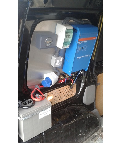 Caddy Van Inverter Installation